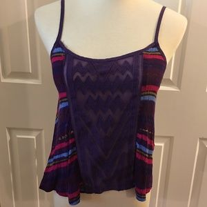 Free People camisole/tank top, purple, size xs